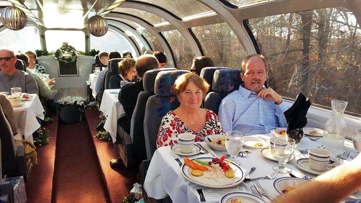 Dining on the Cape Cod Central Railroad